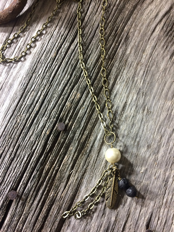 Lava rock diffuser necklace - Momma's Country Soul