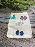 Teardrop Druzy studs~ diamond cut - Momma's Country Soul