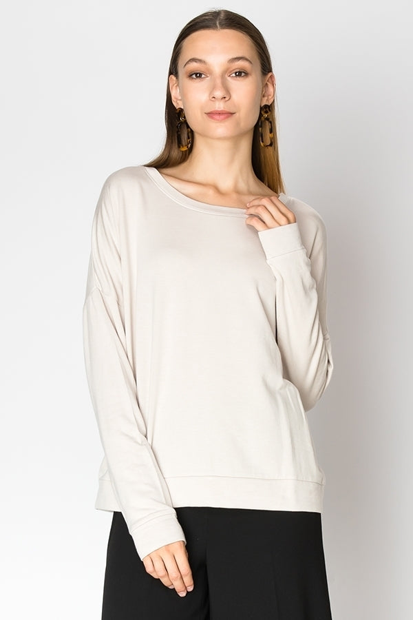 Yara Boat Neck Sweater (Beige)