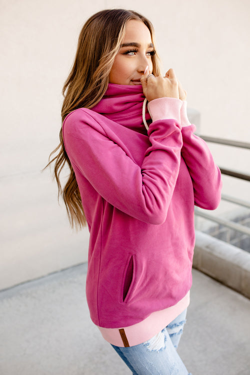 SingleHood Sweatshirt (Boysenberry & Pink)