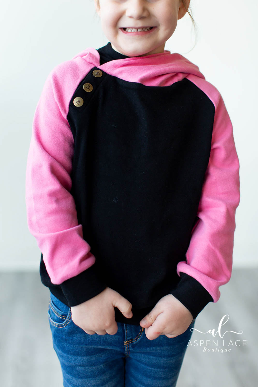 Baseball Black + Pink Kids DoubleHood™