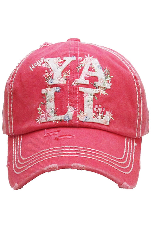 Hey Y'all Vintage Hat (Hot Pink)