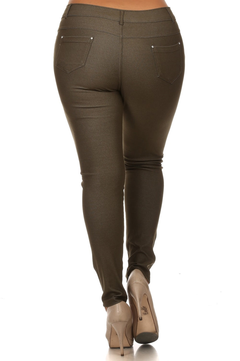 *Final Sale* Classic Jeggings- Curvalicious Black