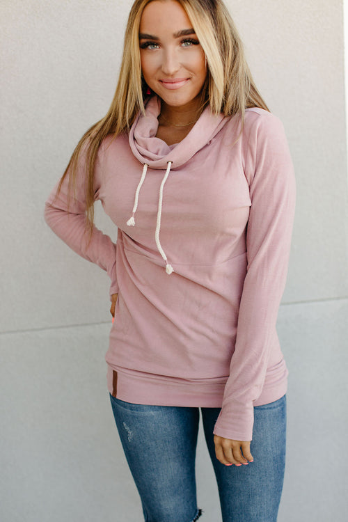Performance Fleece CowlNeck Sweatshirt (Partial to Pink)
