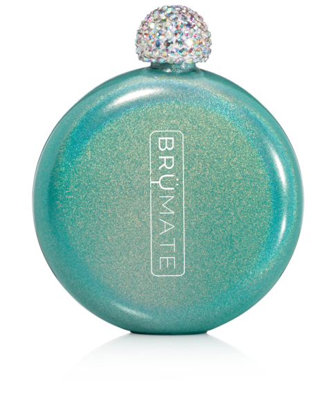 Glitter Flask by BruMate® (Peacock)