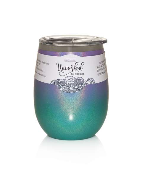 Uncork'd XL 14oz Wine Glass (Glitter Mermaid Ombre) LIMITED EDITION