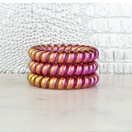 Hotline Hair Ties Set (Pink Lemonade Chameleon)