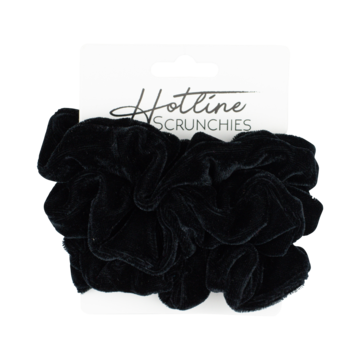 Hotline Hair Ties Scrunchie Set (Black Velvet)