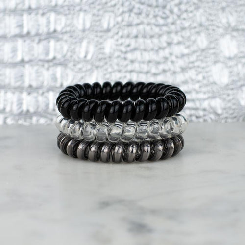 Hotline Hair Ties Set (Black Diamond)