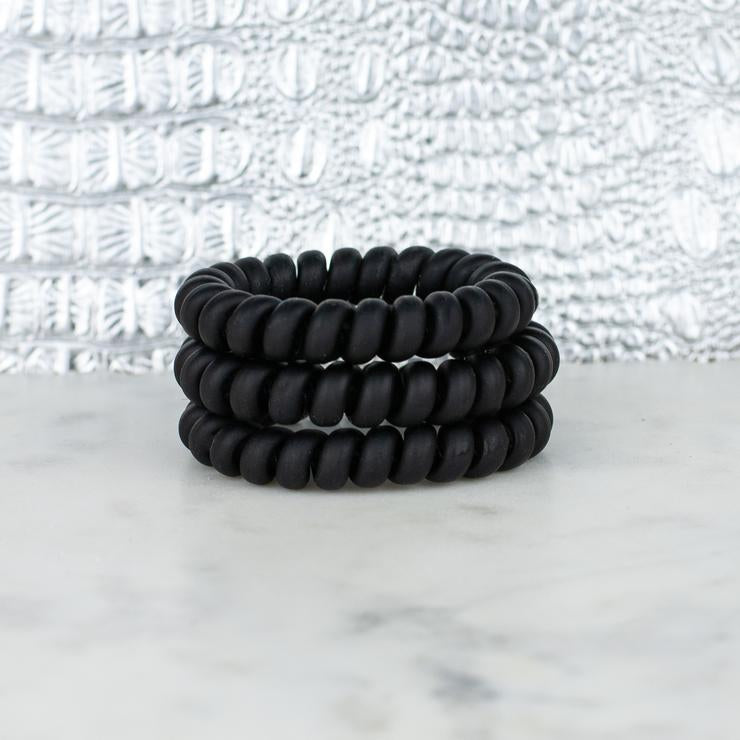 Hotline Hair Ties Set (Black Matte)