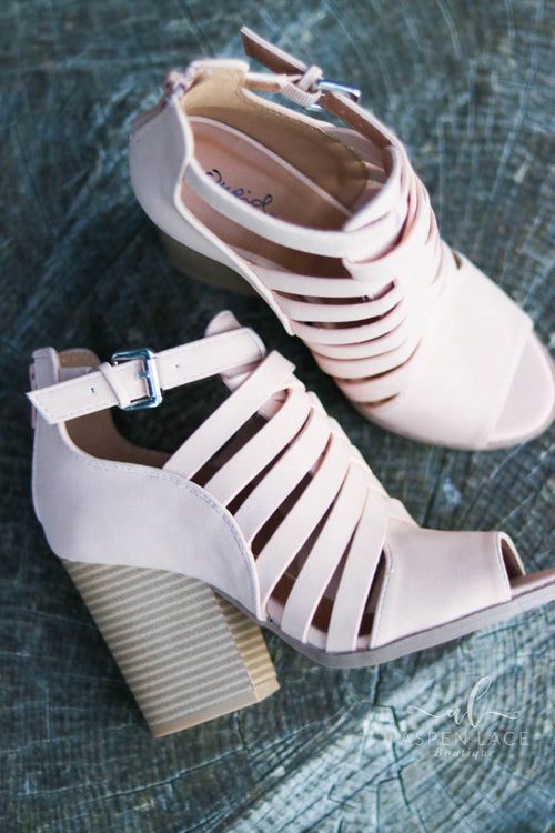 *Final Sale* Honey Braided Booties (Blush)