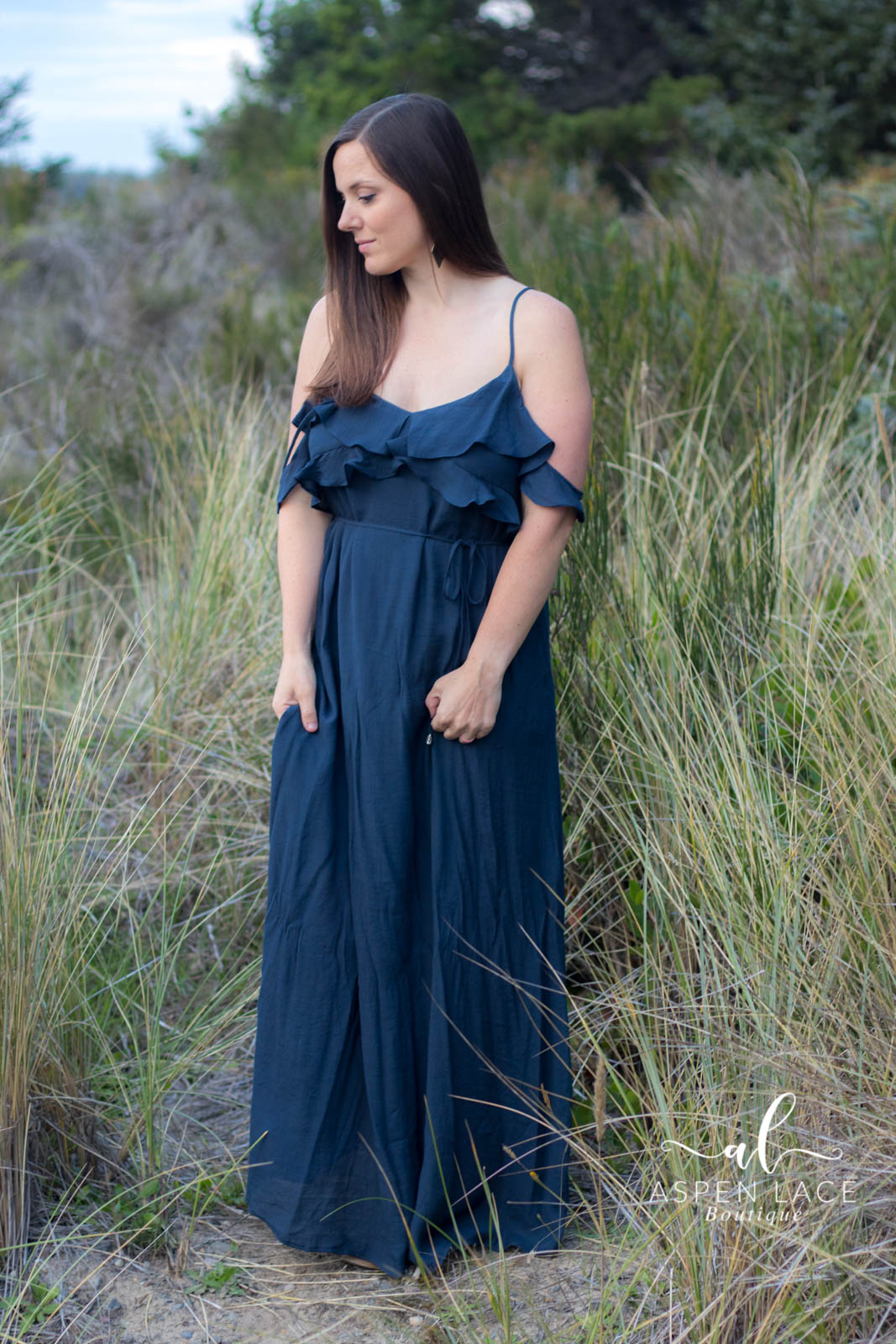 Rory Maxi Dress (Navy)