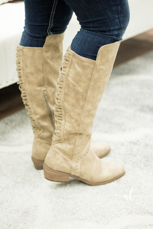 Not Rated Crawford Boots (Cream)