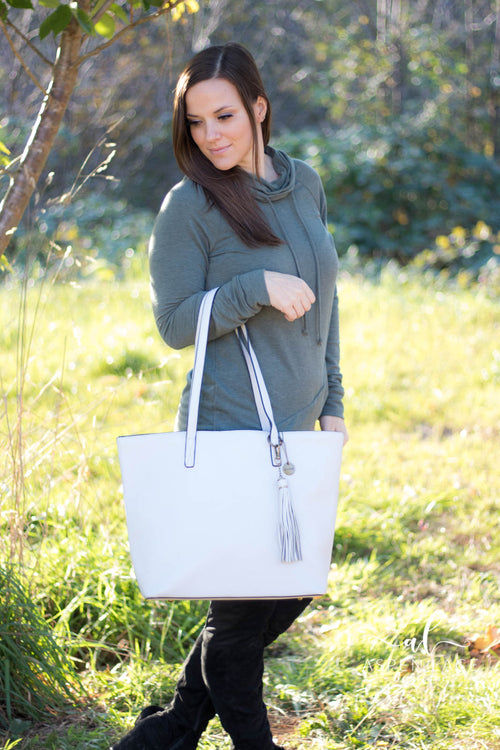 The Lucia Tote (Light Grey)