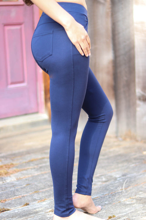 Erin Ponte Dress Pants (Navy)