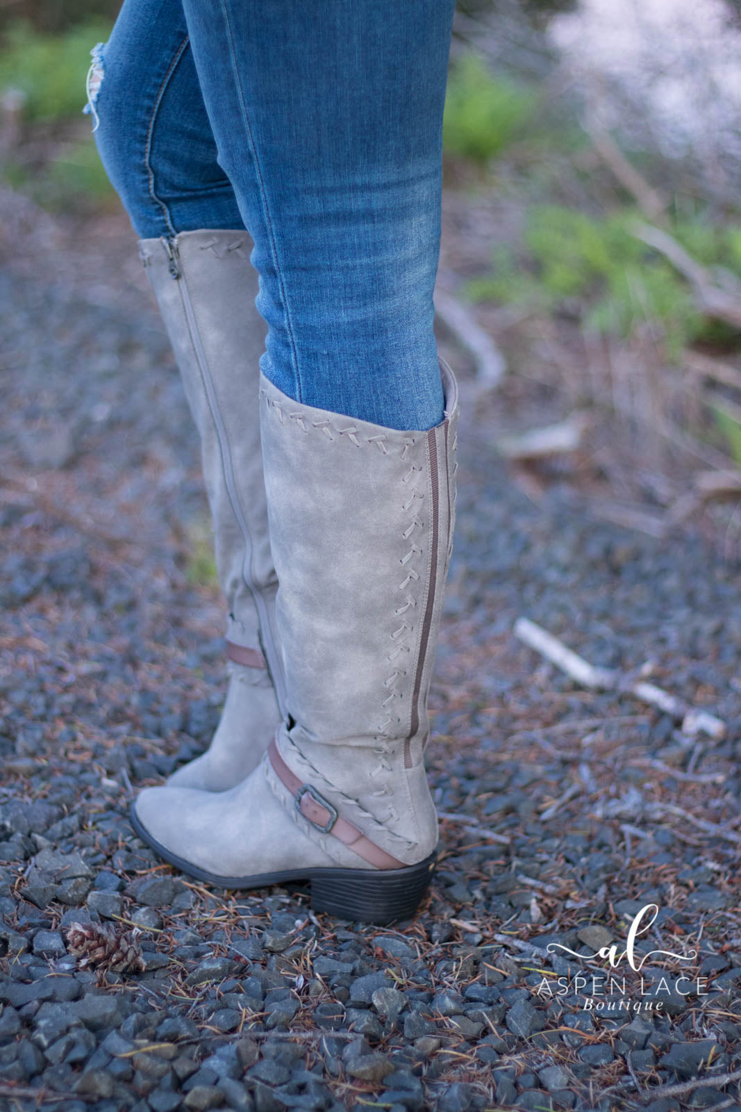 Blowfish Wednesday Boots (Steel Grey)