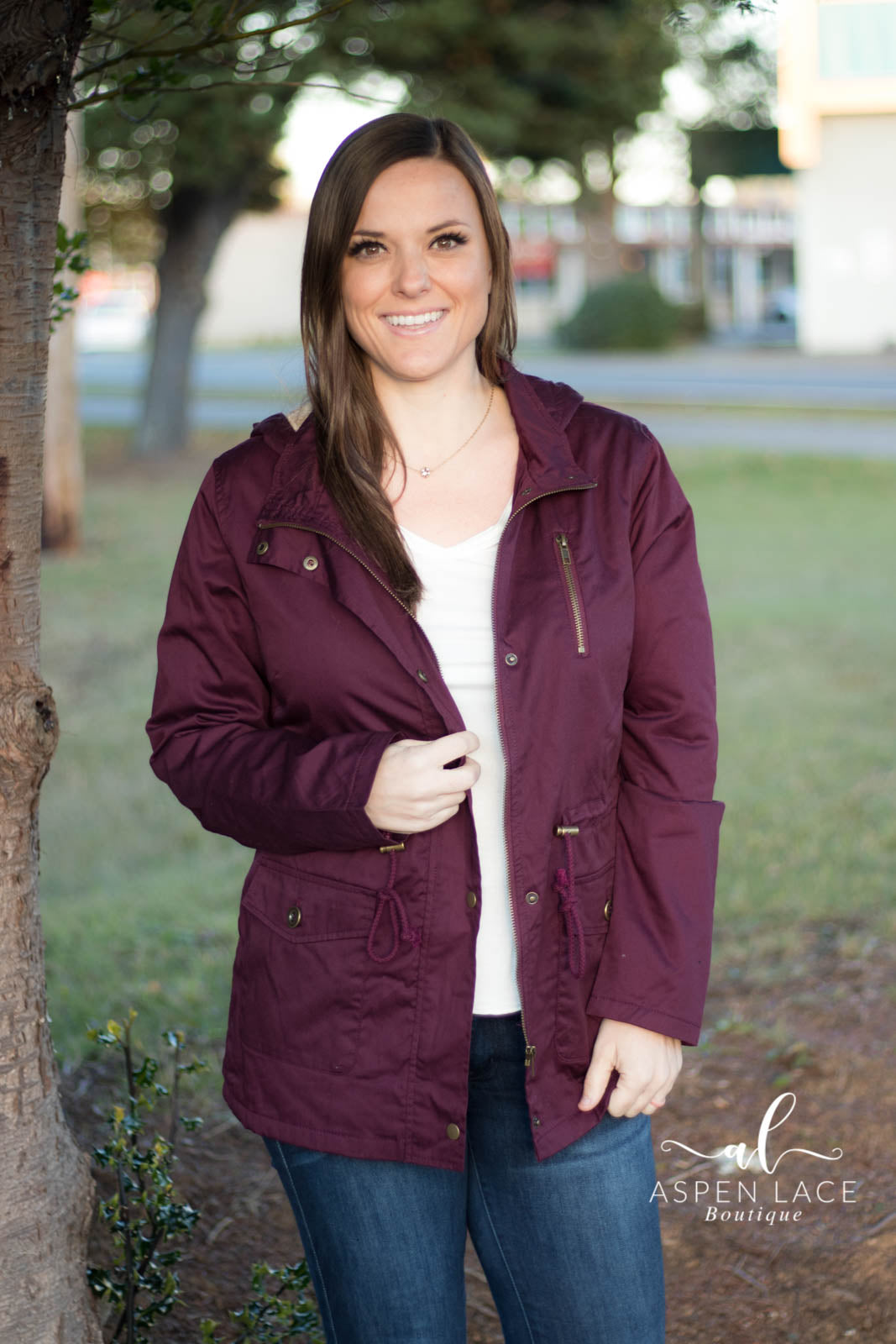 Lori Anorak Jacket (Mulberry)