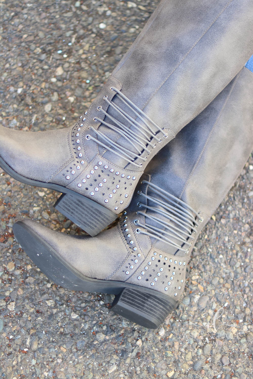 *Final Sale* Not Rated Rumi Boots (Charcoal)