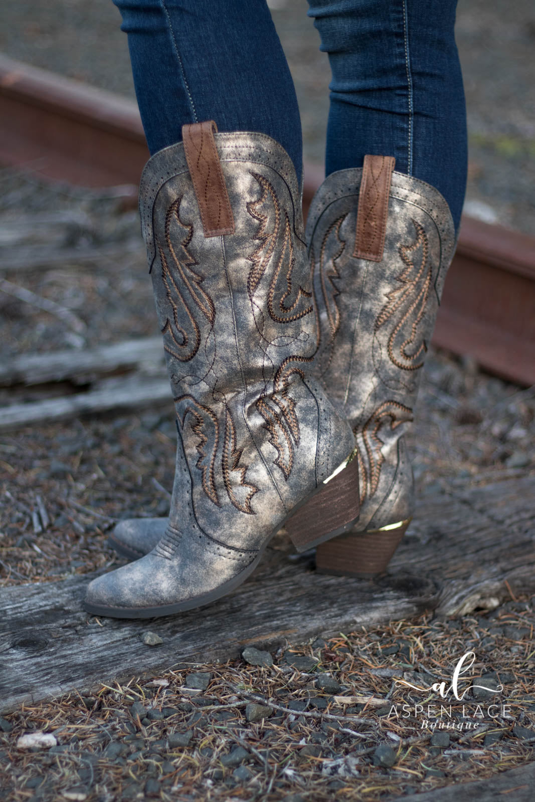Weston Cowgirl Boots (Bronze)