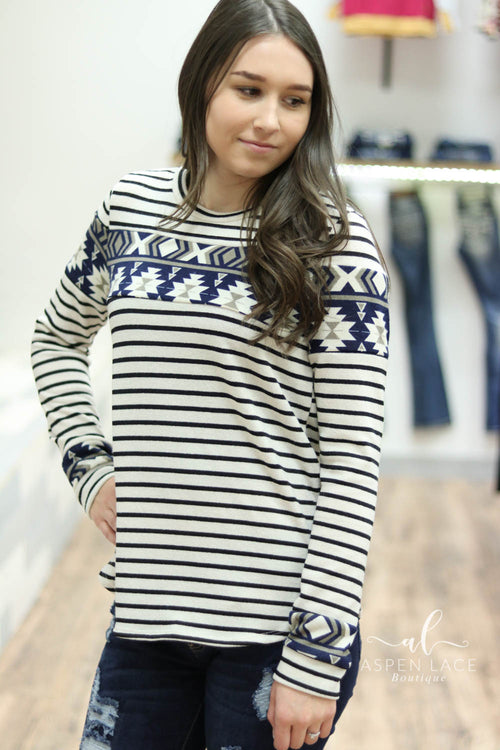 Mabel Aztec Sweater (Oatmeal)