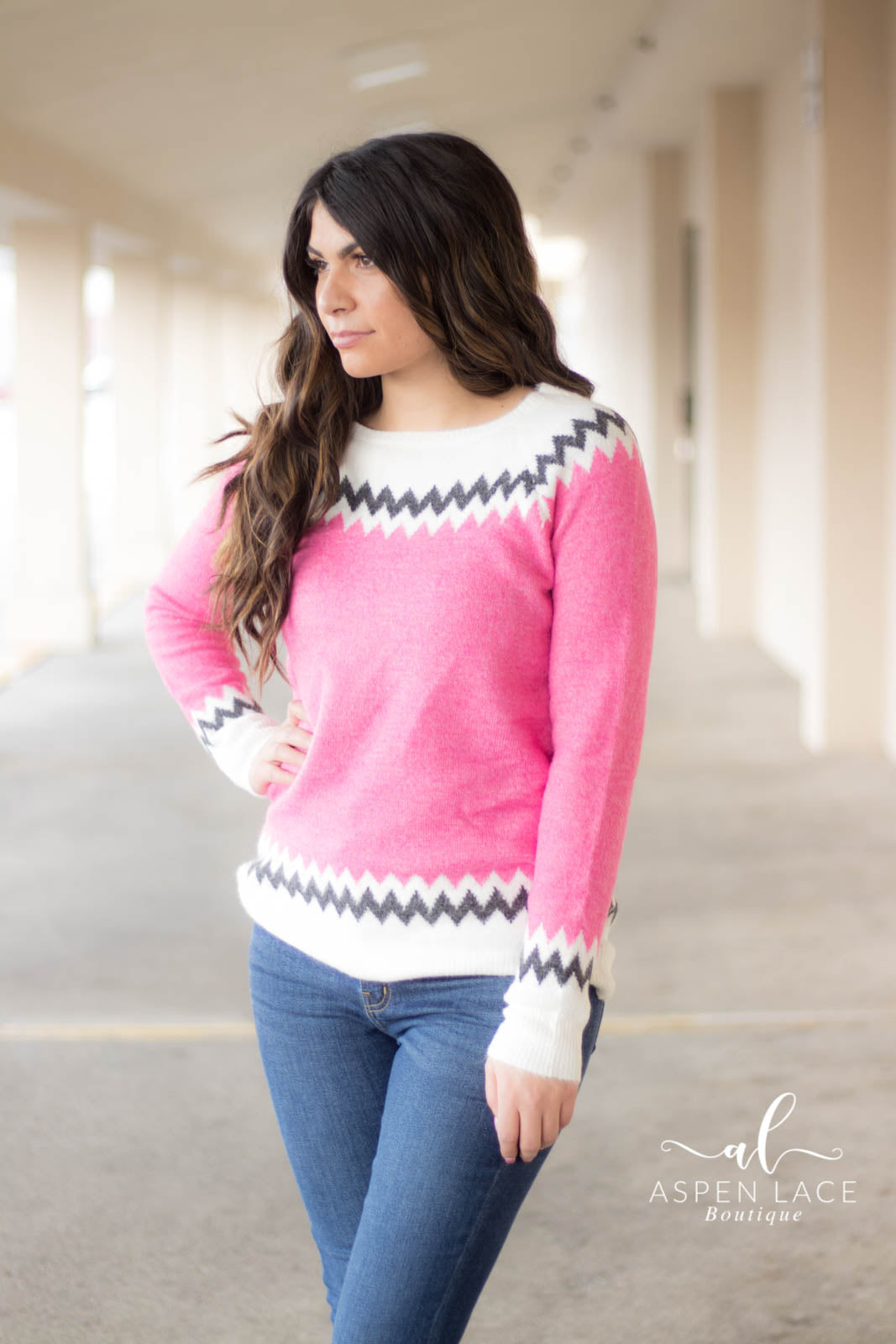Bryn Sweater (Pink)