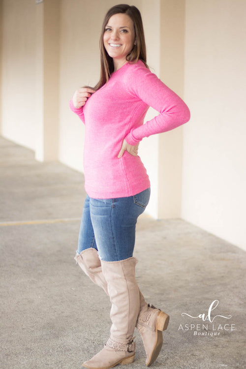 Yara Sweater (Hot Pink)