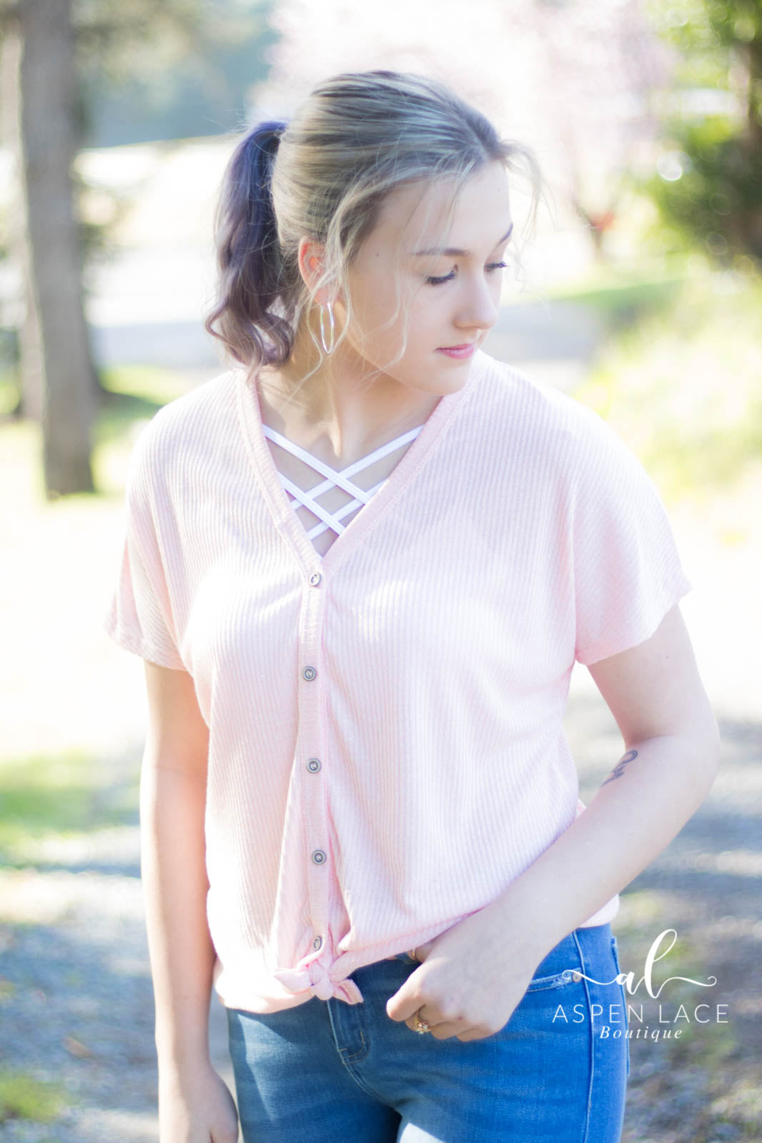 Peyton Knit Top (Blush)
