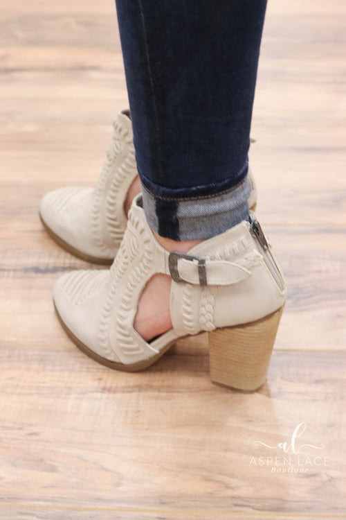 *Final Sale* Not Rated Nara Booties (Cream)