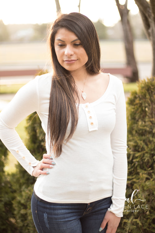 Inna Knit Top (White)