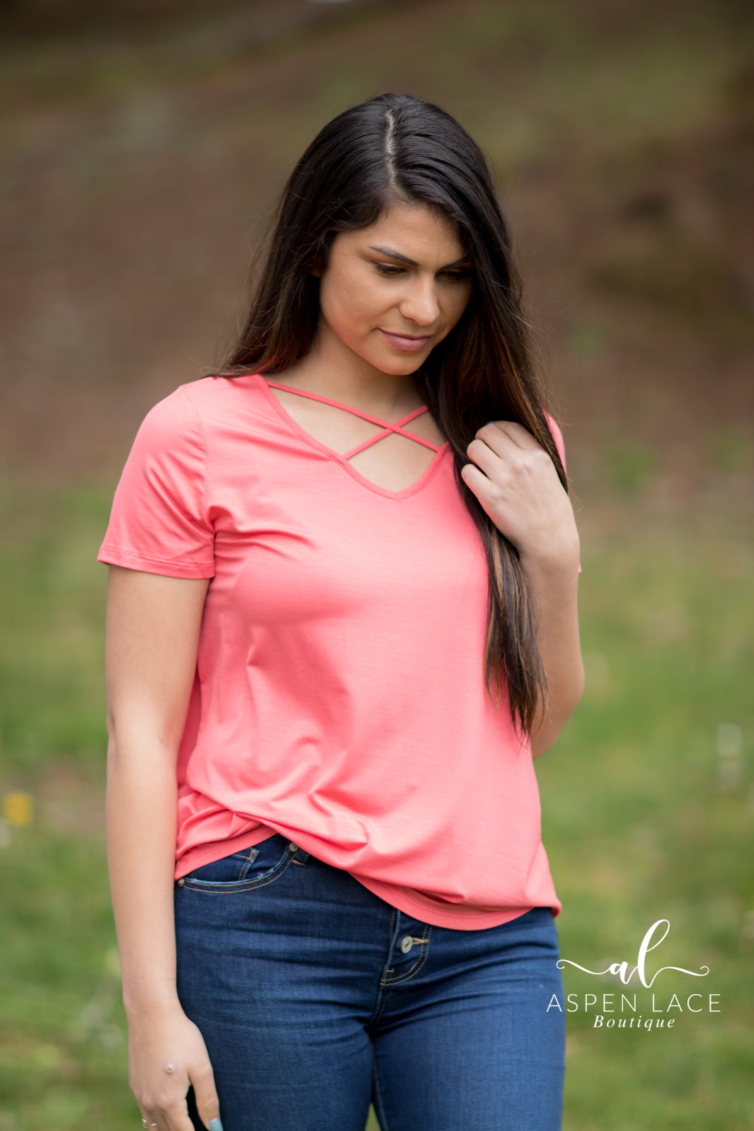Emma Sue Top (Coral)