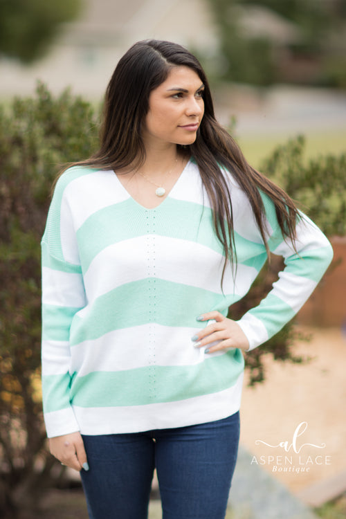 Honey Colorblock Top (Mint)