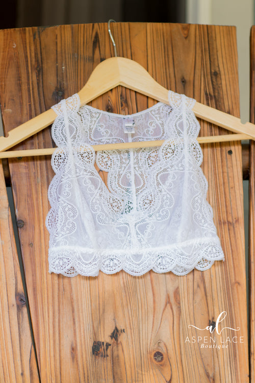 Emily Lace Bralette (Off White)