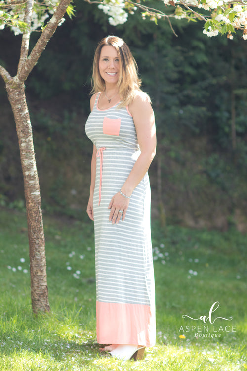 Callie Maxi Dress (Blush)