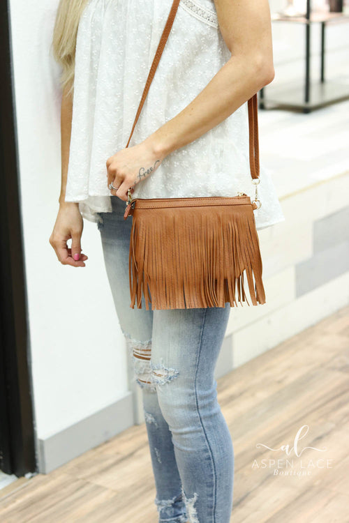 Whitley Fringe Purse (Tan)
