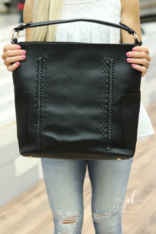 Jana Whipstitch Bag (Black)