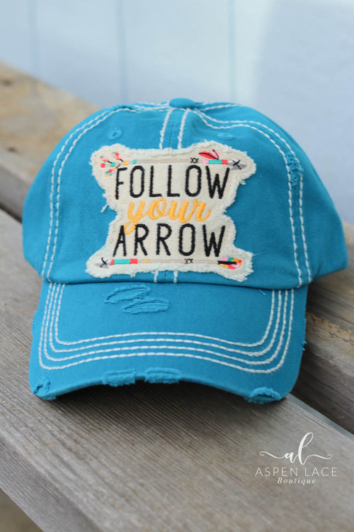 Follow Your Arrow Vintage Hat (Teal)