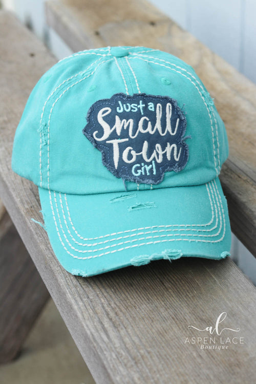 Small Town Girl Vintage Hat (Turquoise)