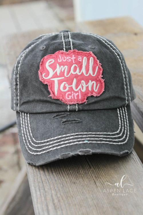 Small Town Girl Vintage Hat (Black)