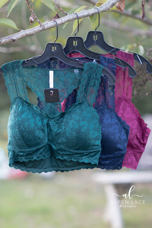 Heather Lace Bralette (Hunter Green)