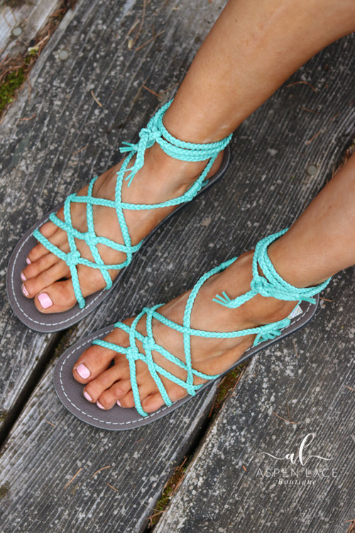 *Final Sale* Willow Sahara Sandal (Turquoise)