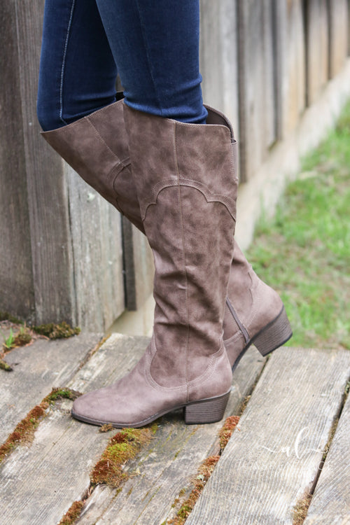 *Final Sale* Night Out Over the Knee Boots (Doe)