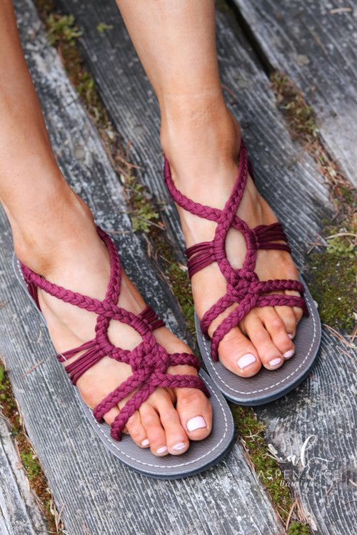 *Final Sale* Viola Peacock Sandal (Sunset Sangria)