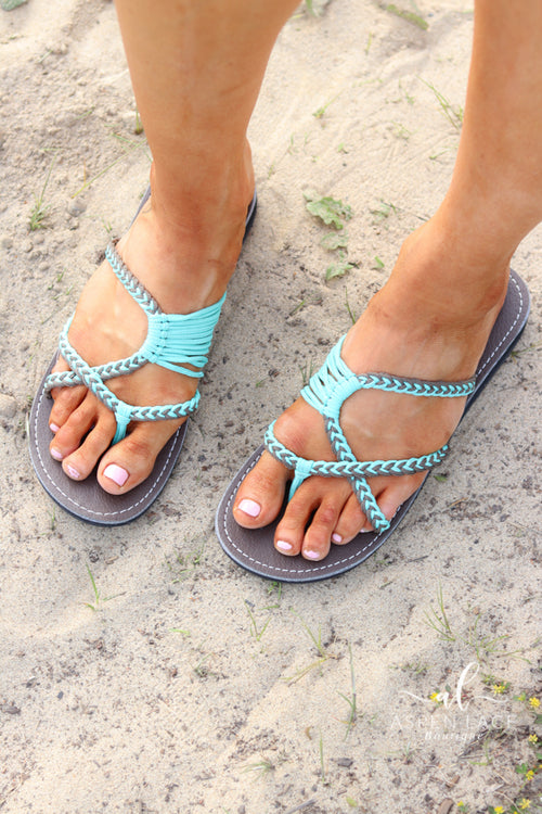 CJ Oceanside Sandal (Turquoise Grey)