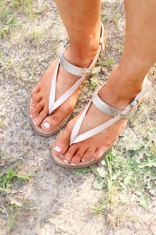 *Final Sale* Blowfish Berg Sandals (Rose Gold Galaxy Metallic)