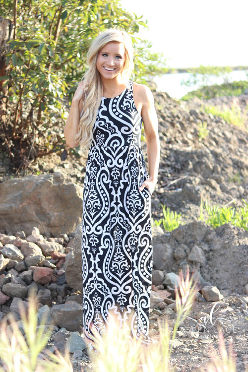 Vera Maxi Dress (Black)