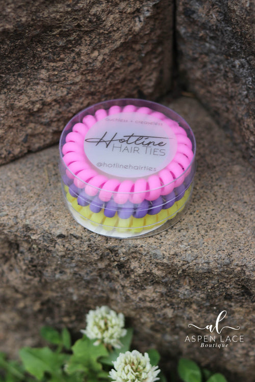 Hotline Hair Ties Set (Flower Power Matte)