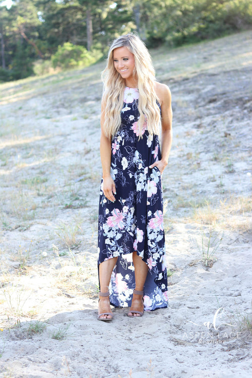 Kenley Maxi Dress (Navy)