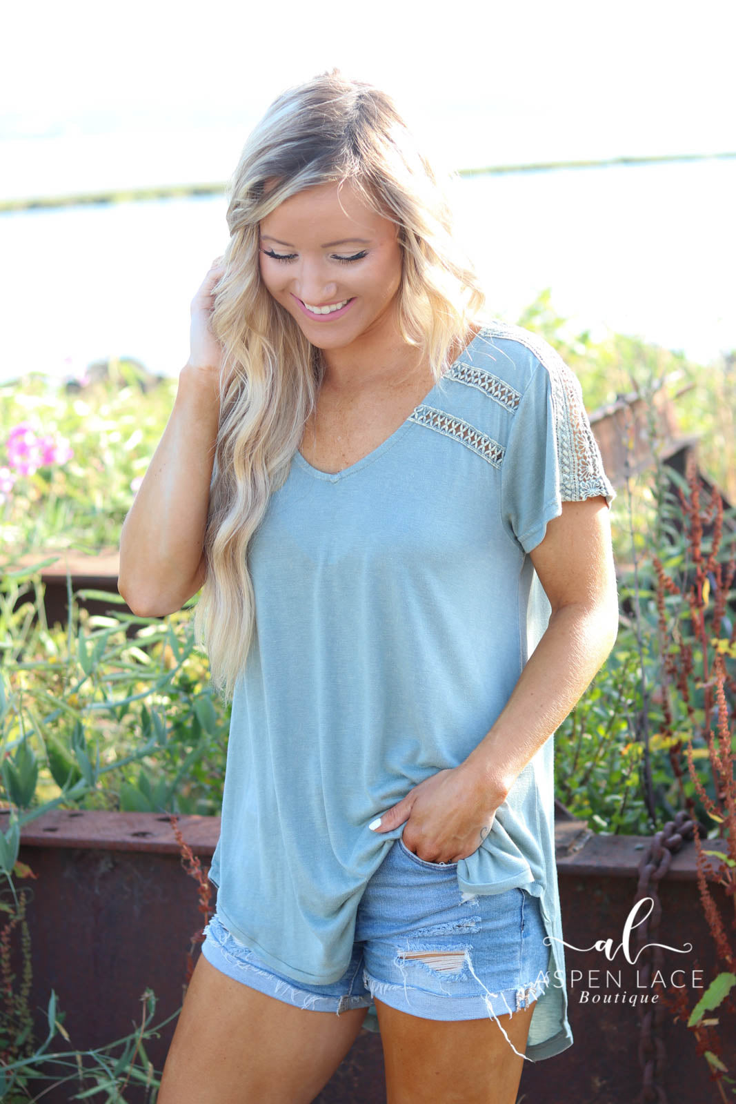Myra Crochet Top (Sage)