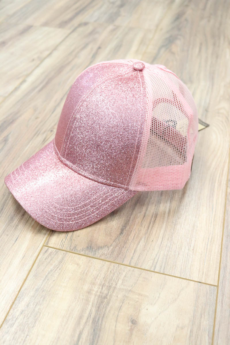 Bombshell CC Glitter Ponytail Hats (Multiple Colors)
