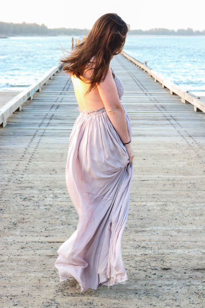 Once Upon a Time Maxi Dress (Taupe)